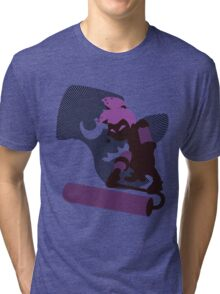 Violet Male Inkling - Sunset Shores Tri-blend T-Shirt