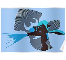 Light Blue Female Inkling - Sunset Shores Poster