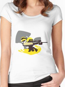 Yellow Male Inkling - Sunset Shores Women's Fitted Scoop T-Shirt