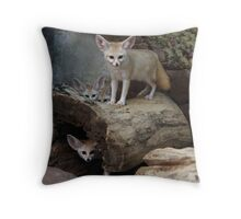 Awesome Fennec Fox Throw Pillow