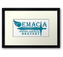Choose your side - Demacia [Blue V.] Framed Print