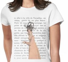 Strolling While Wearing a Fancy Hat Womens Fitted T-Shirt