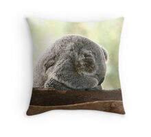 Sleeping koala Throw Pillow