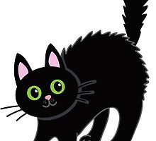 Tousled black cat. Halloween. by Sandytov