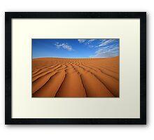 Sand Dune Ripples, Simpson Desert, Australia Framed Print