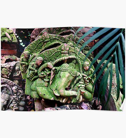 Terracotta Sculptures, Chiang Mai, Thailand Poster