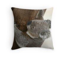 Climbing koala Throw Pillow