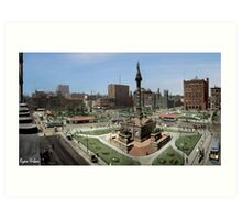 Cleveland's Public Square 1907 Colorization Art Print
