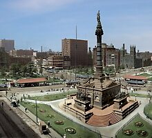 Cleveland's Public Square 1907 Colorization by ryanurban