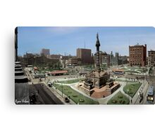 Cleveland's Public Square 1907 Colorization Canvas Print