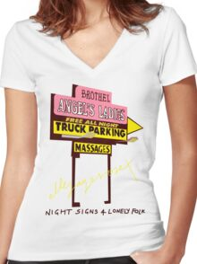Night Signs 4 Lonely Folk #1 Women's Fitted V-Neck T-Shirt