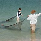Net Casting at Boca Grande  by John  Kapusta