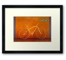 One Way 2 Framed Print