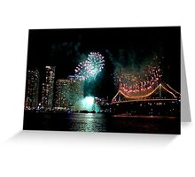 Festival Fireworks Greeting Card