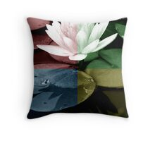 FLORAL PRINTS CALENDAR COVER IMAGE Throw Pillow