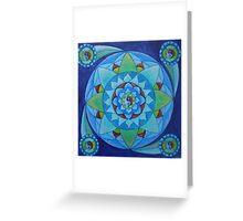 Inner balance free-hand mandala Greeting Card