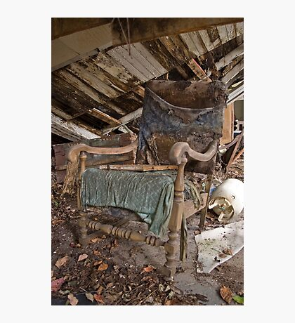 Old dilapidated chair Photographic Print