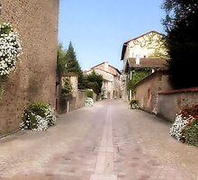Street of Rochechouart by Pamela Jayne Smith