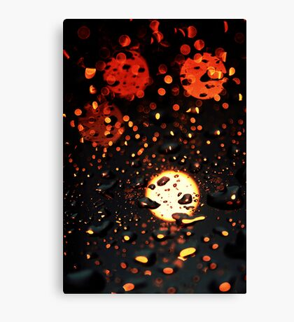 Three moons and a sun Canvas Print