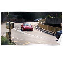 Red Ferrari California  Poster