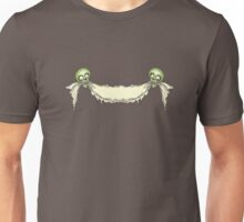 Halloween ribbon with skulls. Unisex T-Shirt