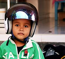 Crash Helmet, Ubud, Bali by JonathaninBali