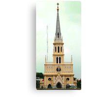 Holy Rosary Church, Chao Phraya River, Bangkok  Canvas Print