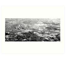 Brisbane from the sky Art Print