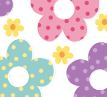 Dolly tender flowers Sticker
