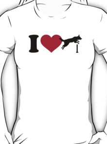 I love dog agility T-Shirt