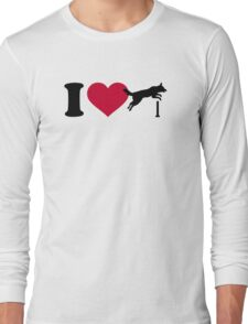 I love dog agility Long Sleeve T-Shirt