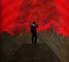 Daredevil Minimalist Art Print - Poster  by JamieHarknett