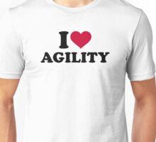 I love agility Unisex T-Shirt