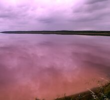 A pink lake at Port Gregory by Gary Wooldridge