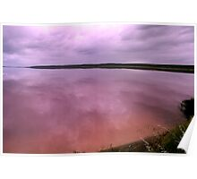 A pink lake at Port Gregory Poster