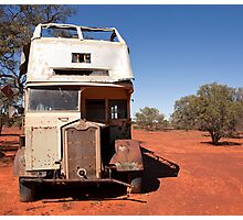 Abandoned old Sydney Bus that used to be the residence of two fencers that worked on Trilby Station by Blue Gum Pictures Photographic Print