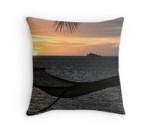 Sunset on Plantation Island Throw Pillow