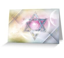 STAR OF DAVID-2- bless and protect- Art + Products Design  Greeting Card