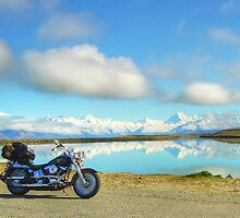 Aoraki Mount Cook and Tekapo B Headpond by Tony Burton