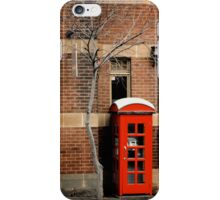 Red Telephone Box, The Rocks, Sydney iPhone Case/Skin