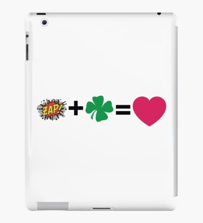 Z + N = love iPad Case/Skin