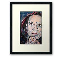 Brutal Honesty, Self in Blue Framed Print
