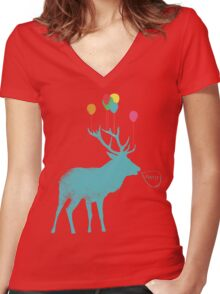 Stag Party Women's Fitted V-Neck T-Shirt