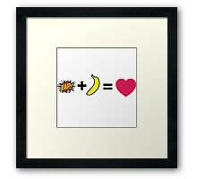 Z + H = love Framed Print