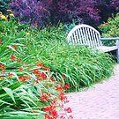 bench in the garden by ANNABEL   S. ALENTON