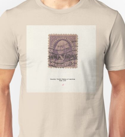 Vintage American stamp Washington Unisex T-Shirt