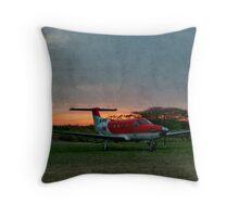 Sunset in the Zulu Farmlands Throw Pillow