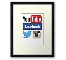 Social Networks Framed Print