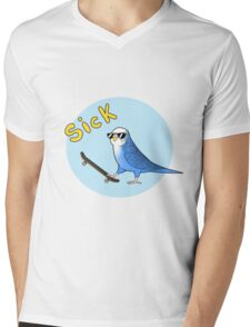 Skate Birder Mens V-Neck T-Shirt