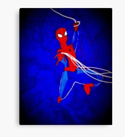 Spiderman emerges! Canvas Print
